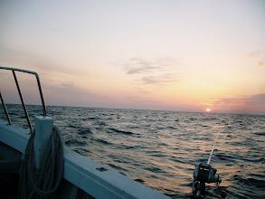 Photo: 五島へ夜釣りの予定でしたが、昨日が悪天だった為、日帰り真鯛釣りに変更です。