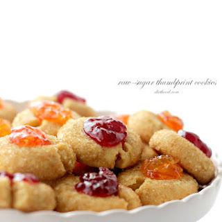 Raw-Sugar Thumbprint Cookies.