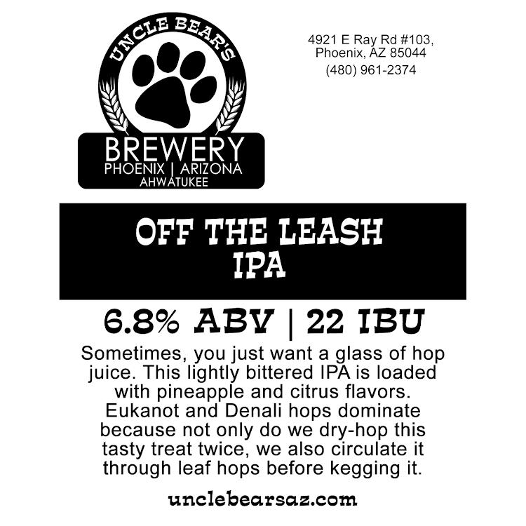 Logo of Uncle Bear's Off The Leash IPA