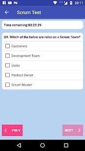 Scrum Test - náhled