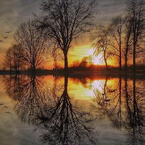 Sunset by Dunja Milosic Odobasic - Digital Art Places