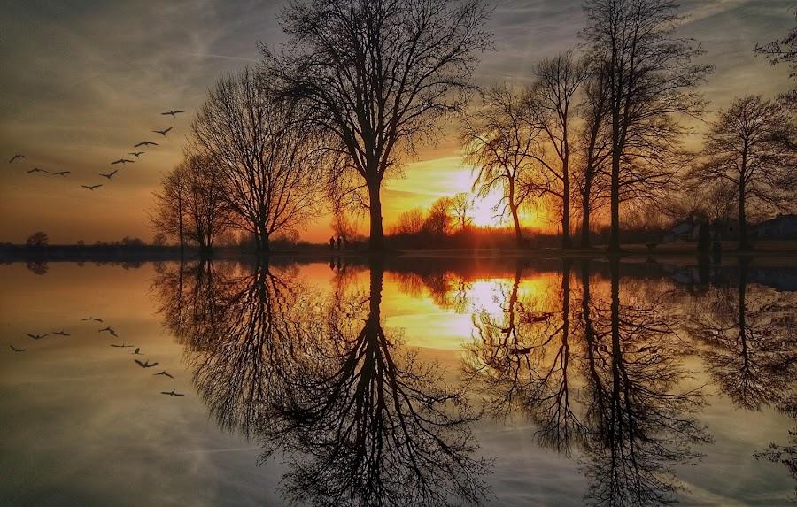 Sunset by Dunja Milosic Odobasic - Digital Art Places (  )