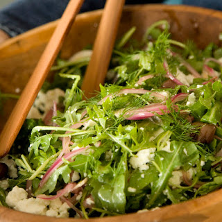 Arugula Salad with Olives, Feta and Dill
