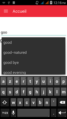 android English To French Dictionary Screenshot 1