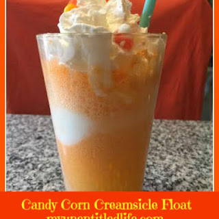 Candy Corn Creamsicle Float