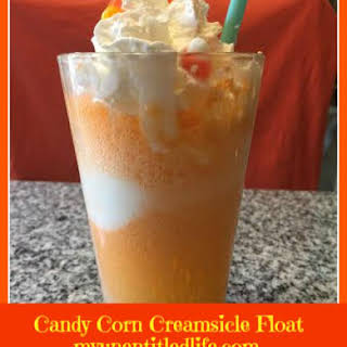 Candy Corn Creamsicle Float.
