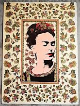Foto: Frida In bloom With Filo  48x66cm  Serigrafia su decoupage e tempera  DISPONIBILE  Per informazioni e prezzi: manualedelrisveglio@gmail.com