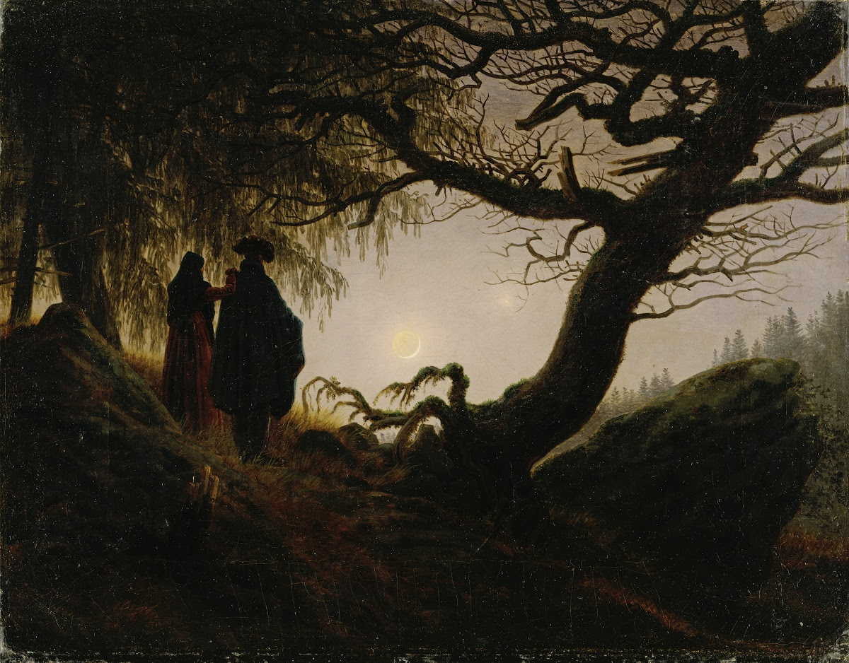 Caspar Georg Friedrich, Man and Woman Observing The Moon