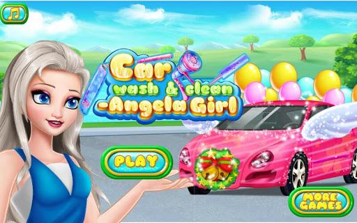 清理汽車 - 安吉拉女孩