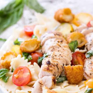 Chicken Caprese Pasta.