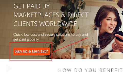 Bước 1 đăng ký tài khoản Payoneer