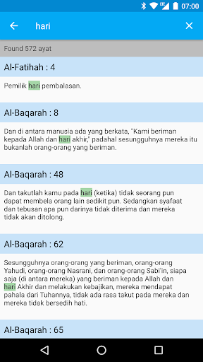 Quranku - Al Quran Indonesia and English screenshot 2