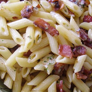 Bacon and Parmesan Penne Pasta.