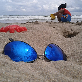 Playing by Alina Vicu - Novices Only Objects & Still Life ( clouds, sand, toys, play, beach )