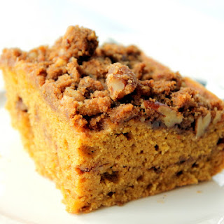 Melt-in-Your-Mouth Brown Butter Pumpkin Coffee Cake with Pecan Gingersnap Cookie Streusel Recipe