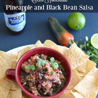 Semi-Homemade Pineapple and Black Bean Salsa