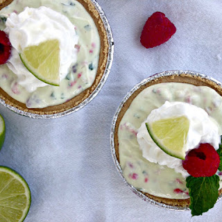 Raspberry Mint Key Lime Mini Pies