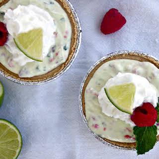 Raspberry Mint Key Lime Mini Pies.