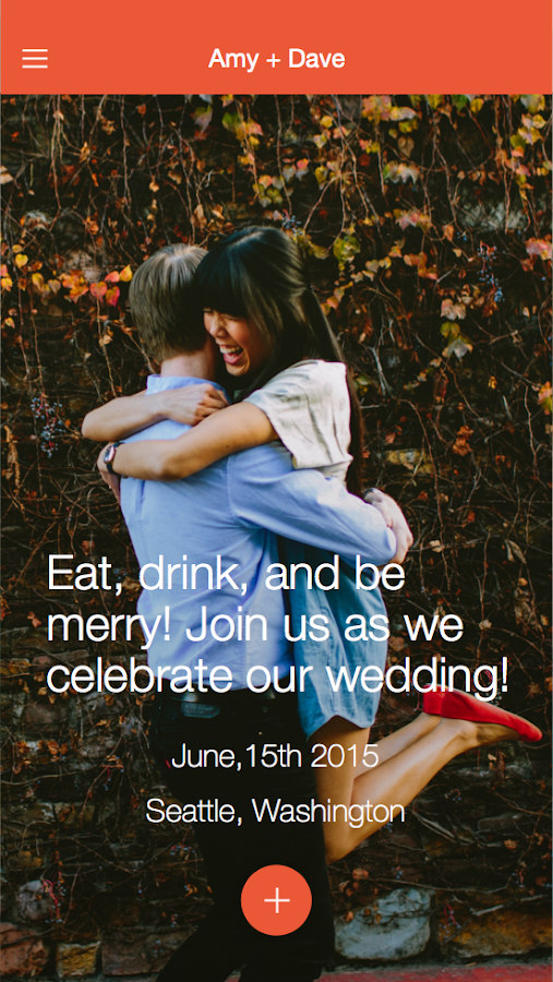 Joy - Wedding App & Website- screenshot