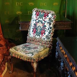 Chair - Leeds Castle by Dee Haun - Artistic Objects Furniture ( artistic objects, leeds castle, furniture, chair, 180926f4568ce1 )