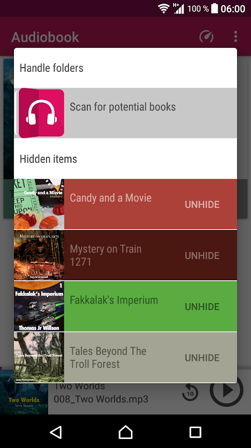 Audiobook Player- screenshot