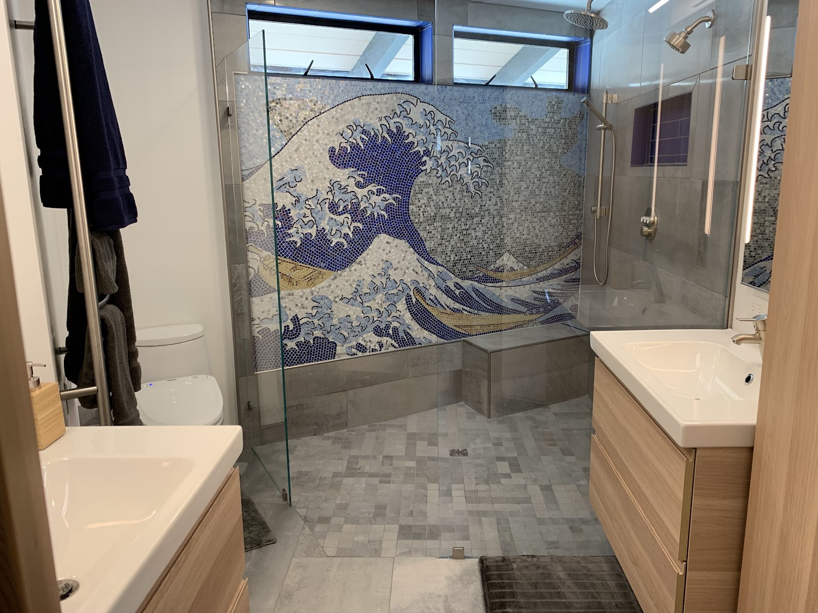 The Great Wave Mosaic by Mozaico