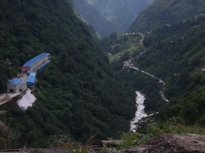 Photo: View down valley with Chinese border on left, Kodari on right