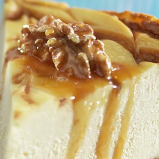 Walnut-Crusted Caramel-Bourbon Swirl Cheesecake