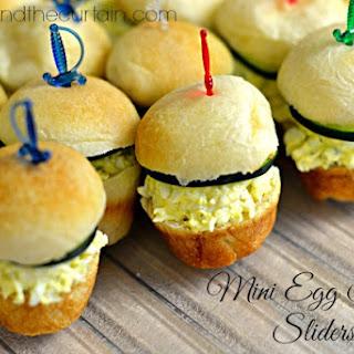 Mini Egg Salad Sliders.
