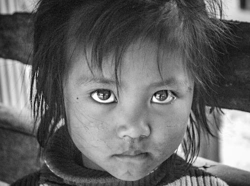 the eye by Arubam Meitei - Babies & Children Child Portraits ( child, potrait, black and white, innocent, lovely,  )
