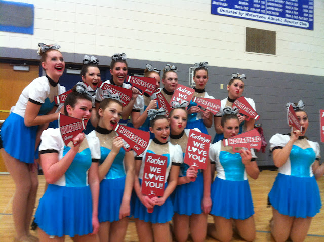 Megaphone cheer paddle- Homestead Dance Team