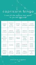 Capricorn Bingo - Instagram Bingo  item