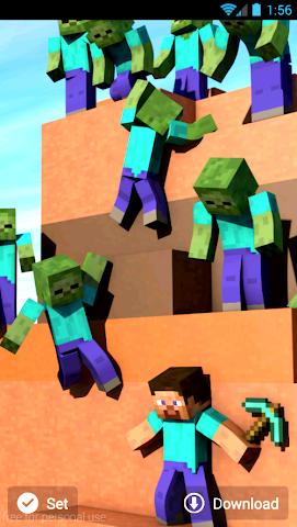 android Hintergrundbilder minecraft Screenshot 5