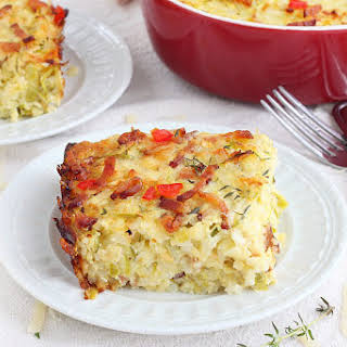Zucchini, Bacon And Rice Casserole.