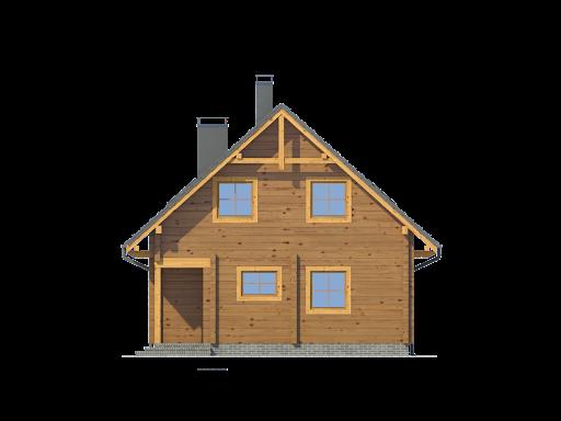 Bartne drewniane 8-0k - Elewacja prawa
