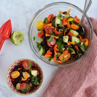 Skinny Cucumber and Tomato Salad.
