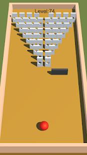 Domino Fall 3D - Entspannendes endloses Ball- und Schlagspiel
