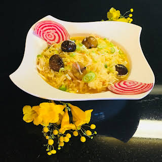 Asian Style Cabbage with Saffron and Chestnuts.