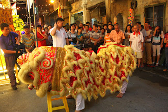 Photo: Year 2 Day 107 -   Dancing Lion at the 9 Emperor Gods Festivity