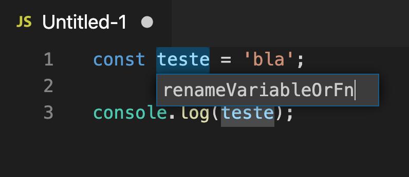 Refatoração de código com ajuda do VSCode