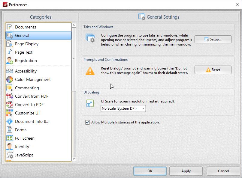 thumbapps.org PDF-XChange Editor portable, Preferences...