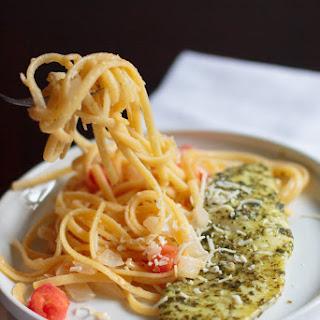 Pesto Tilapia with Linguine