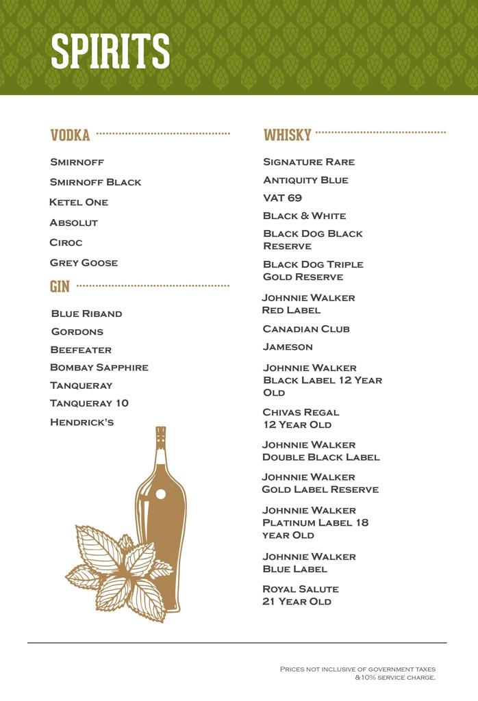 Arbor Brewing Company menu 4