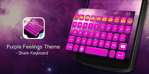 Emoji Keyboard-Purple Feelings
