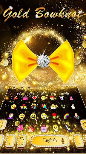 Gold Glitter Bowknot Keyboard hack tool