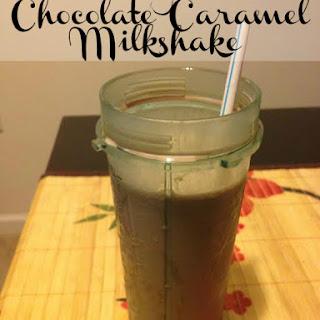 Three Ingredient Chocolate Caramel Milkshake
