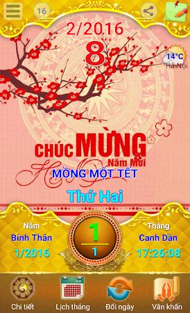 Lich Van Nien - Lịch VN 2016 7.5 screenshot 334415