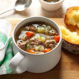 Ground Beef Barley Soup.