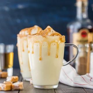 Homemade Salted Caramel Eggnog