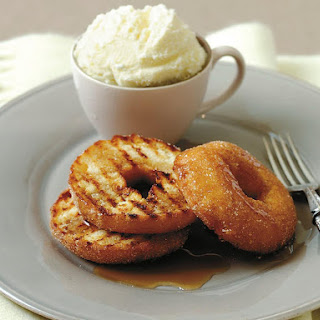 Toasted Cinnamon Doughnuts with Maple Syrup